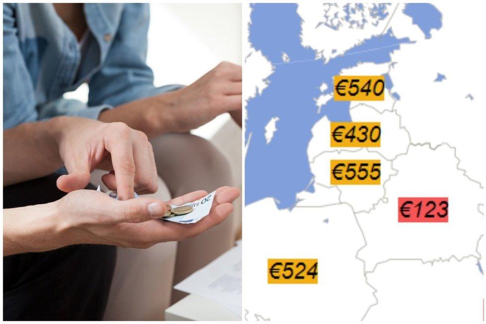 """Didesnė minimali alga Lietuvoje: kiek žmonės gaus """"į rankas"""""""